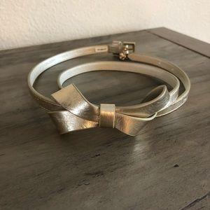 Lily Pulitzer gold bow belt